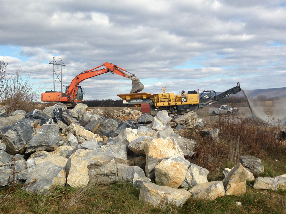 Rock Blasting Service : Rock removal more maryland pennsylvania and west
